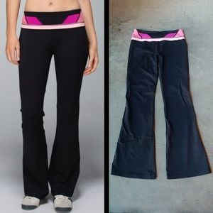 Lululemon Reversible Groove Pant Black Pink 6